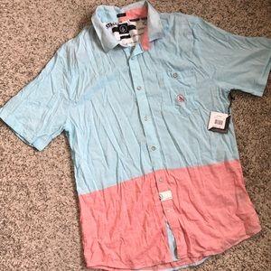 Men's lightweight two tone slim fit shirt